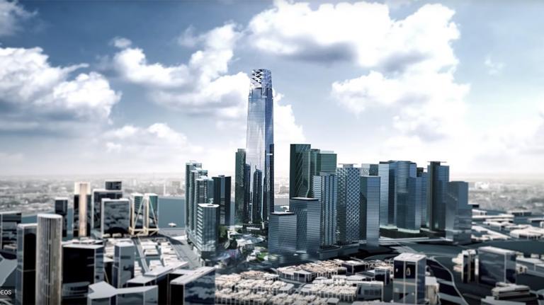 The 106 Exchange building in Kuala Lumpur, Malaysia